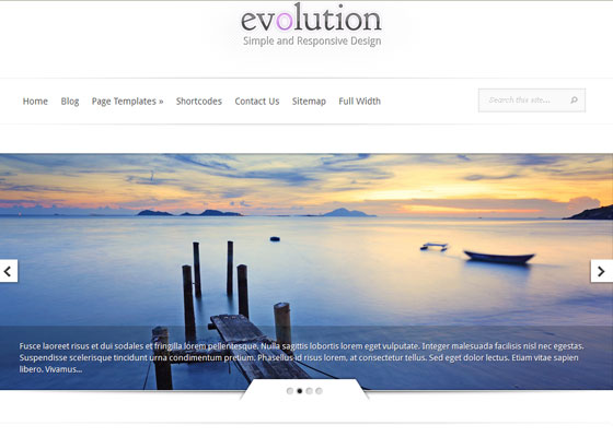 Evolution-Responsive 60 Free And Premium Quality WordPress Themes