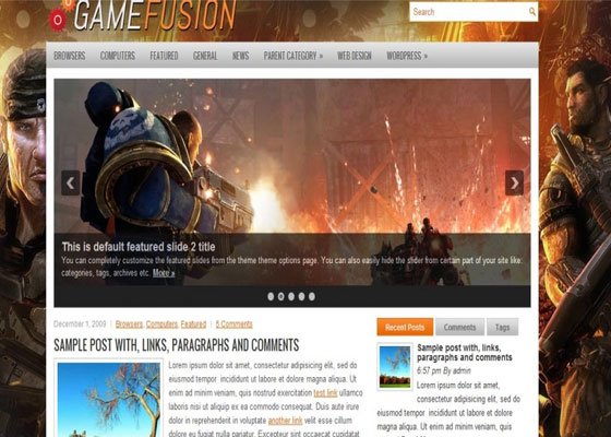 Gamefusion 60 Free And Premium Quality WordPress Themes