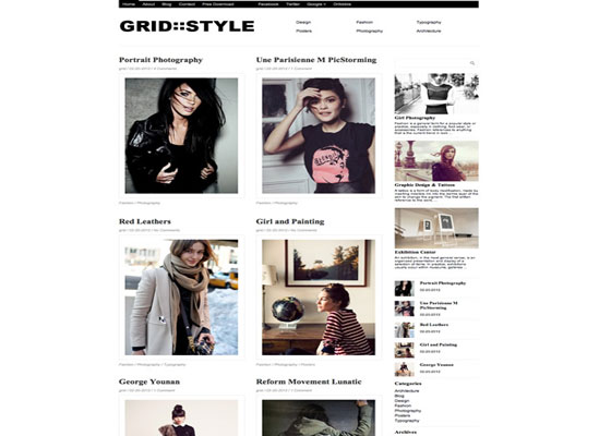 Grid-Style 60 Free And Premium Quality WordPress Themes