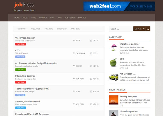 JobPress 60 Free And Premium Quality WordPress Themes