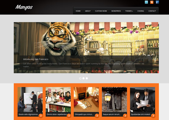 Mangos 60 Free And Premium Quality WordPress Themes