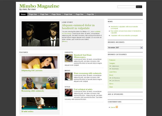 Mimbo-2 60 Free And Premium Quality WordPress Themes