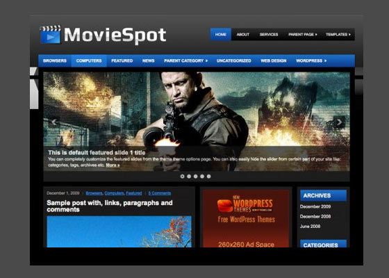 MovieSpot 60 Free And Premium Quality WordPress Themes