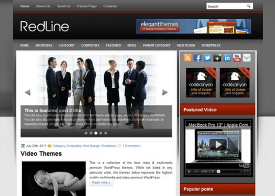 RedLine 60 Free And Premium Quality WordPress Themes