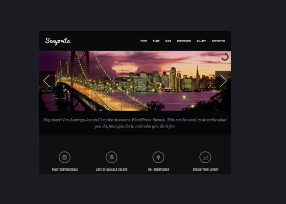 Senyorita 60 Free And Premium Quality WordPress Themes