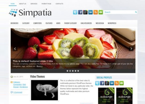 Simpatia 60 Free And Premium Quality WordPress Themes