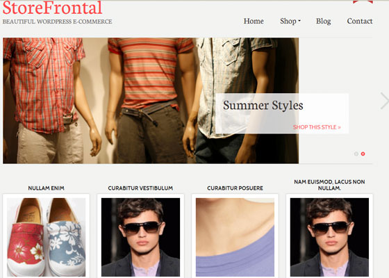 StoreFrontal 60 Free And Premium Quality WordPress Themes