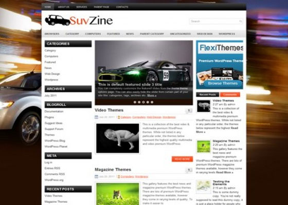 Suvzine 60 Free And Premium Quality WordPress Themes
