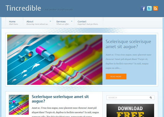 Tincredible 60 Free And Premium Quality WordPress Themes