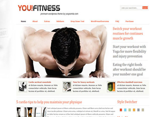 YouFitness 60 Free And Premium Quality WordPress Themes