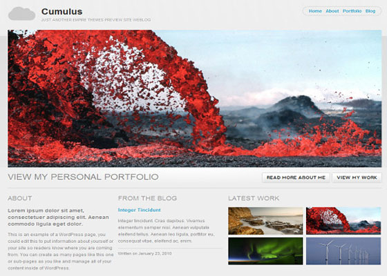 cumulus 60 Free And Premium Quality WordPress Themes