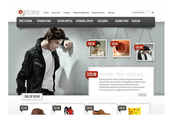 eStore-Theme 60 Free And Premium Quality WordPress Themes