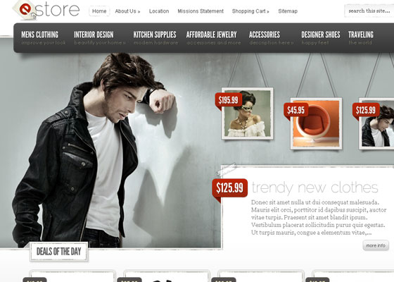 eStore-eCommerce 60 Free And Premium Quality WordPress Themes