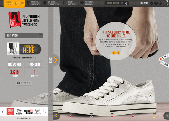 Fresh HTML5 design inspirations