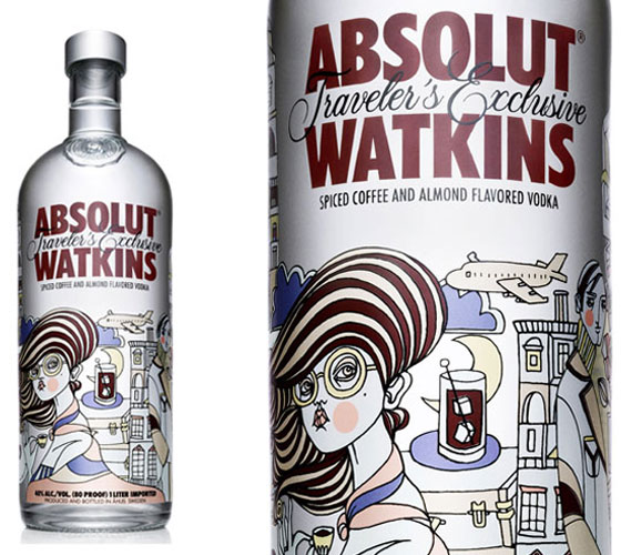 Absolut-Watkins Fully Illustrated Package Designs