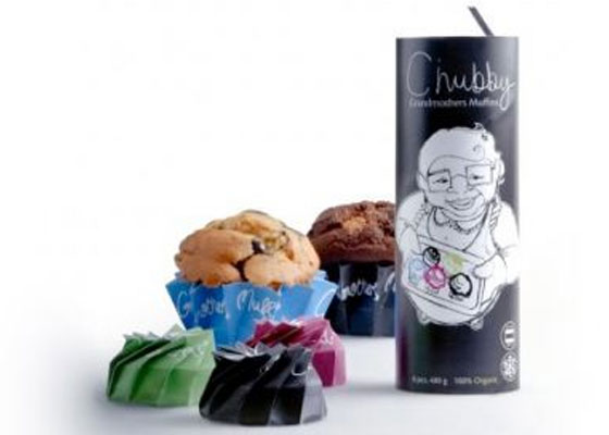 CHUBBY-MUFFINS Fully Illustrated Package Designs
