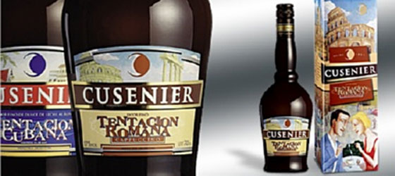 CUSENIER-TENTACION-LIQUEURS Fully Illustrated Package Designs