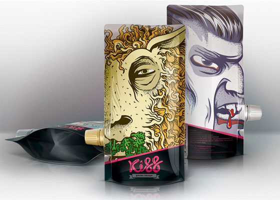 Kiss Fully Illustrated Package Designs