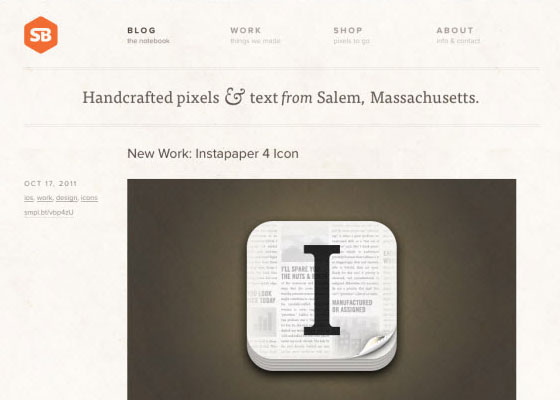 Showcase of typography in web design