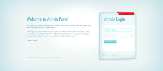 Download Admin Panel Sign Form