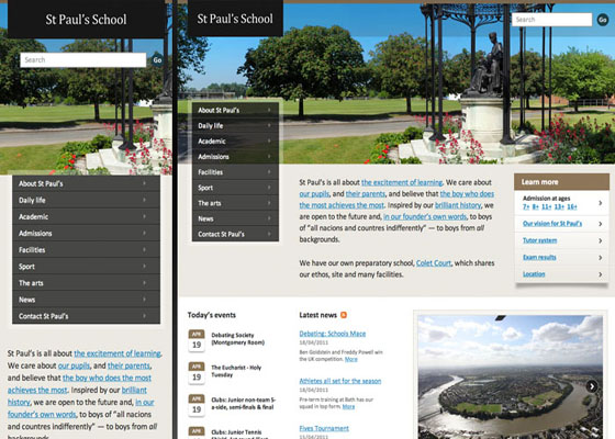 St Paul's School Responsive Website =