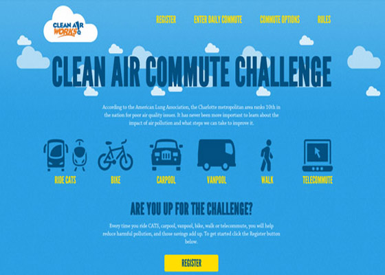 Clean & Commute Challenge Responsive Website =