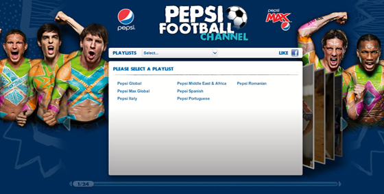 Pepsi Football YouTube Channel
