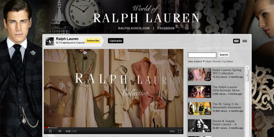 Ralph Lauren YouTube Channel