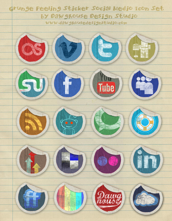 Social Media Icons for inspiration