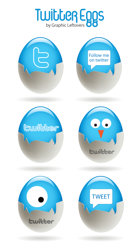 Twitter Eggs Icons for inspiration