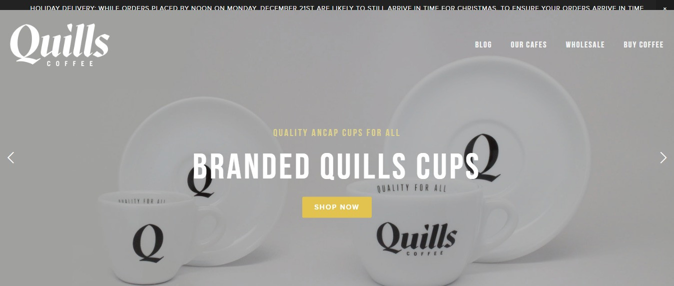Quills Coffee Website