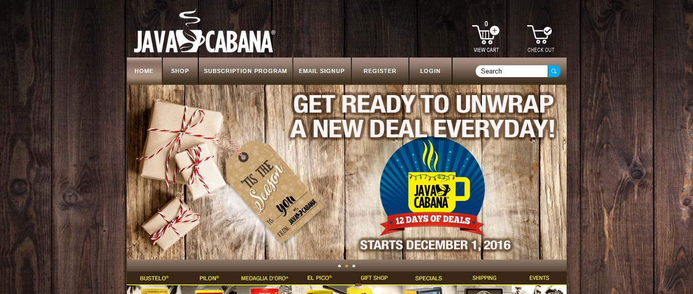 Java Cabana Website