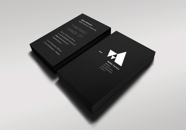 Black Business Card for Idea