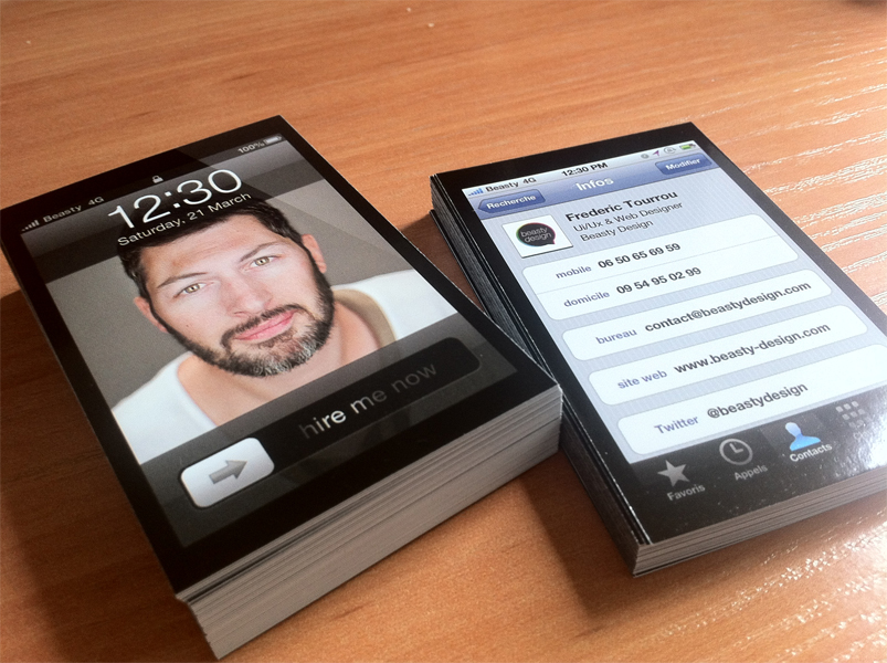 iPhone Business cards for inspiration