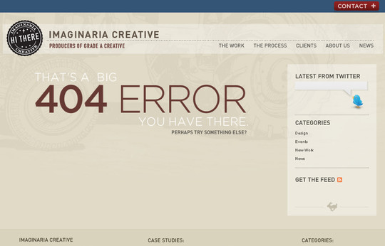 Imaginaria Creative 404 Error Page