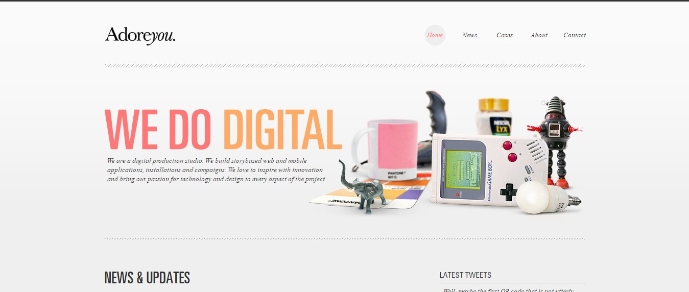 Adore-You 30+ Excellent Portfolios and Design Agency Websites