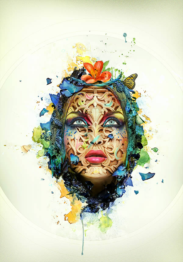 Beautiful-Abstract-Portrait 20+ Latest Photo Manipulation Tutorials