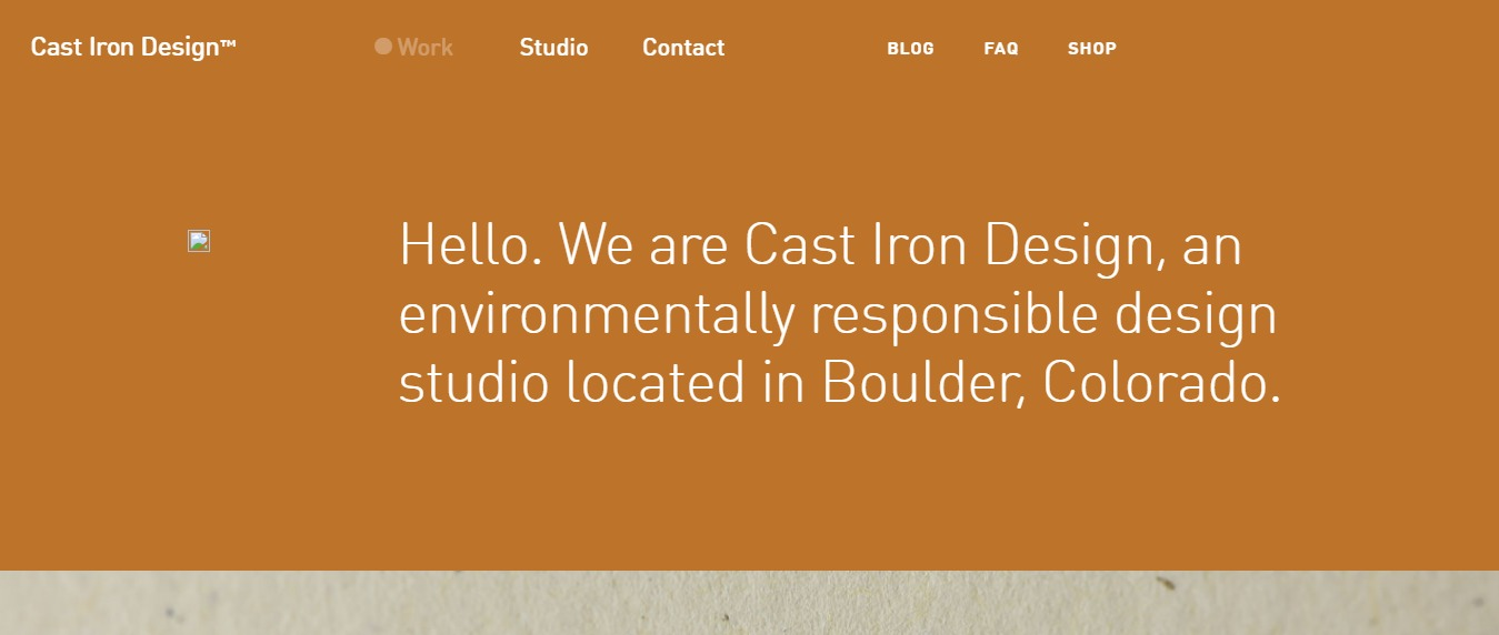 Cast-Iron-Design 30+ Excellent Portfolios and Design Agency Websites