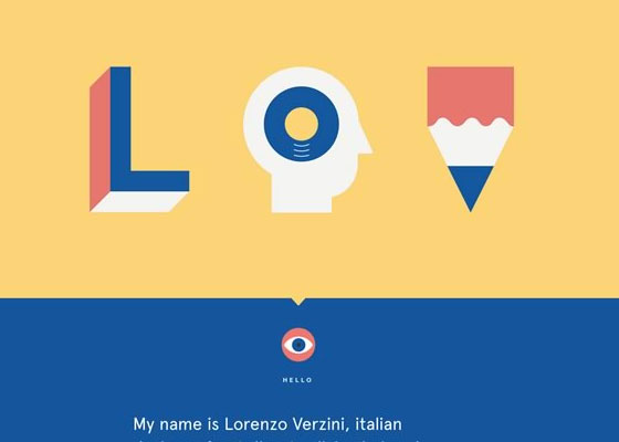 Lorenzo-Verzini 30+ Excellent Portfolios and Design Agency Websites