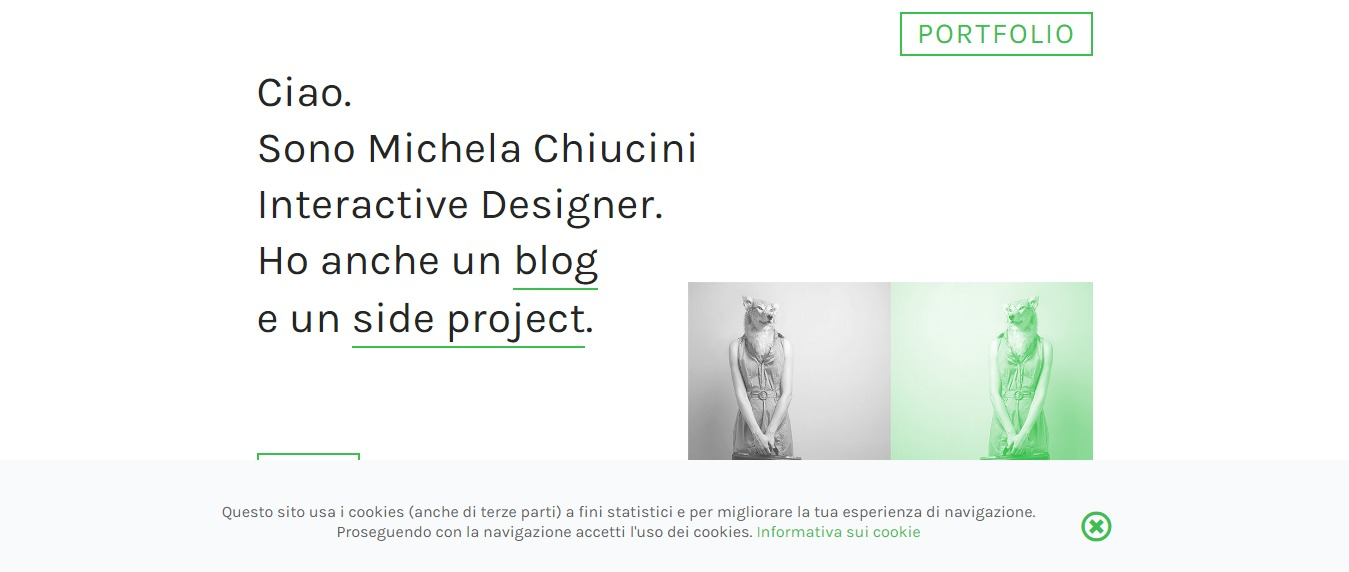 Michela-Chiucini 30+ Excellent Portfolios and Design Agency Websites
