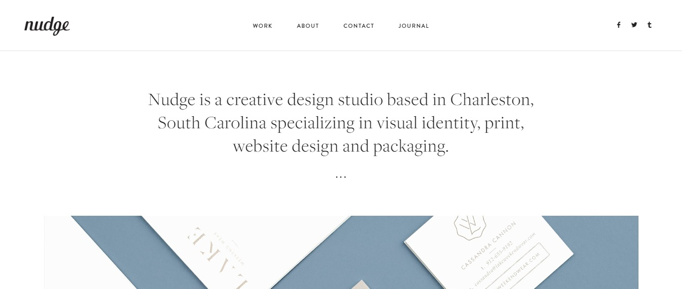 Studio-Nudge 30+ Excellent Portfolios and Design Agency Websites