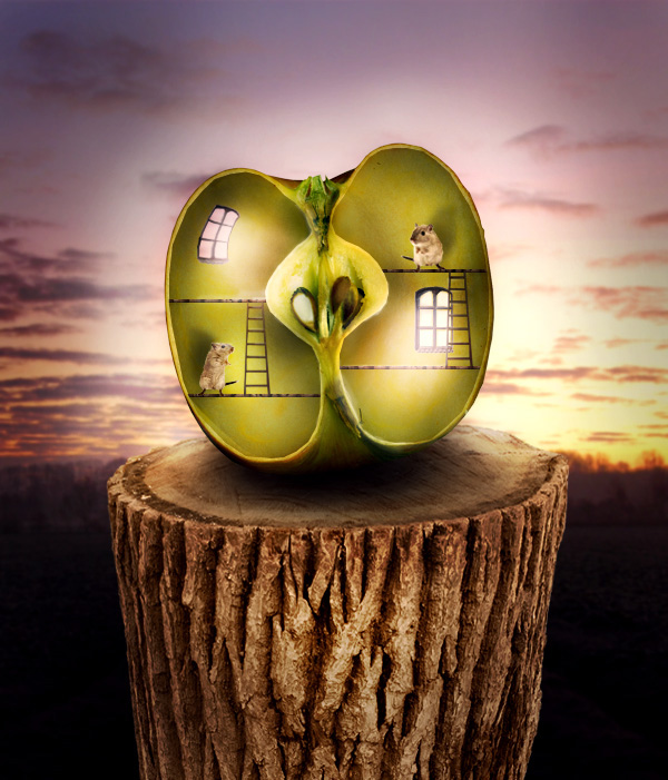 Surreal-Apple 20+ Latest Photo Manipulation Tutorials