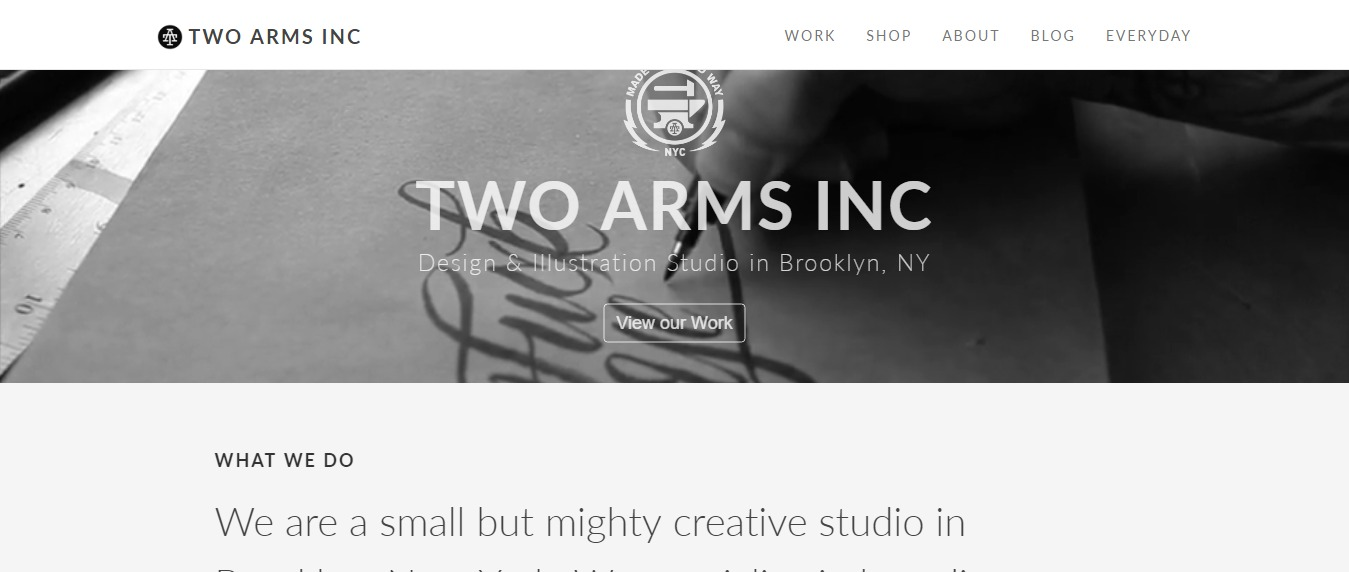 Two-Arms-Inc 30+ Excellent Portfolios and Design Agency Websites