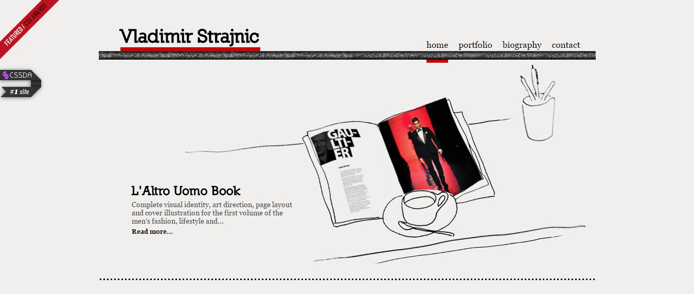 Vladimir-Strajnic 30+ Excellent Portfolios and Design Agency Websites