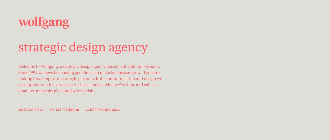 Wolfgang-Design-Studio 30+ Excellent Portfolios and Design Agency Websites