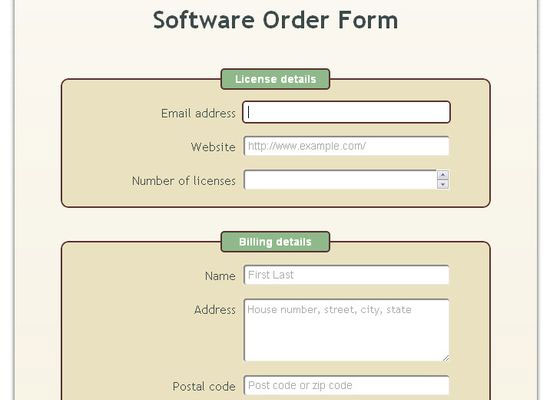 Web Forms with HTML5