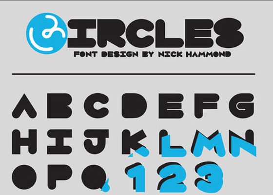Circles Awesome and Unique Free Fonts of 2012