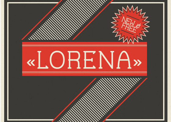 Lorena Awesome and Unique Free Fonts of 2012