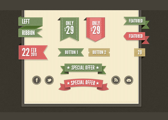 40+ Retro web Design PSD's and web elements