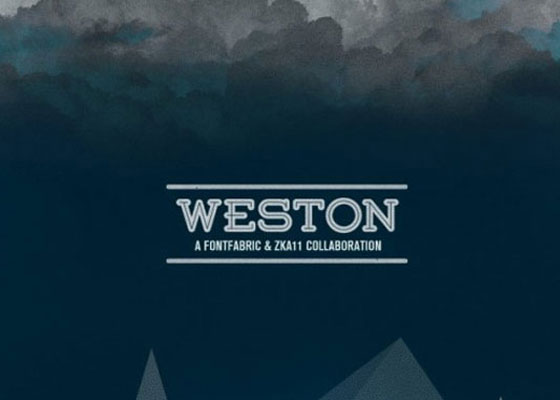 Weston Awesome and Unique Free Fonts of 2012